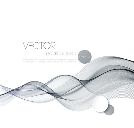 smoky: Vector Abstract smoky waves  background. Template brochure design Illustration