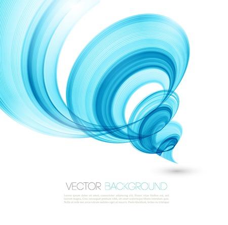 抽象的なひねりを加えた波のベクトルの背景。テンプレートのパンフレットのデザイン  イラスト・ベクター素材