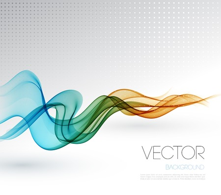 corporate business: Vector Abstract smoky waves  background. Template brochure design Illustration