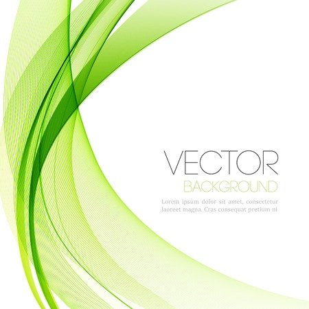 grün: Grafik Abstract rauchigen Wellen Hintergrund. Vorlage Broschüre Design