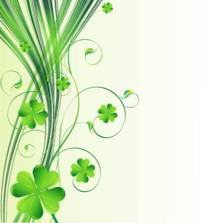 Vector Happy Saint Patricks Day Background with clover Vector