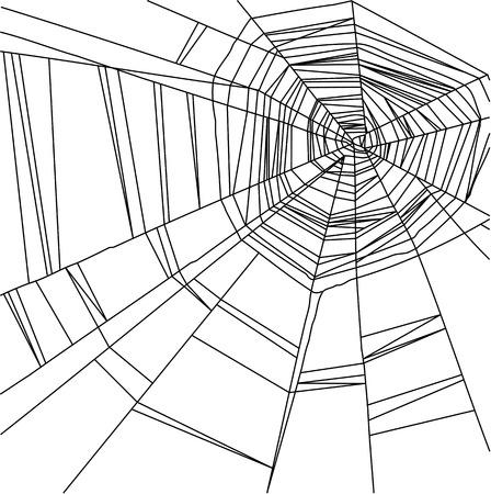 cobwebby: Vector black  spider web isolated on the  white background