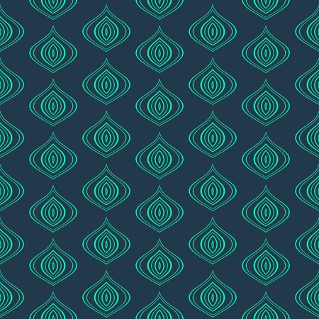 Vector Abstract vintage seamless background simple turquoise  pattern Vector