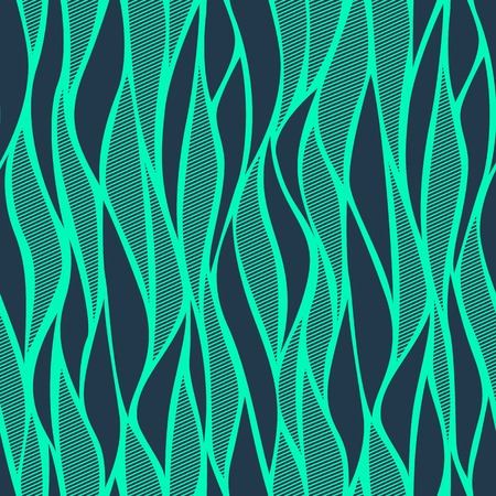 Vector simple abstract blue wave seamless background