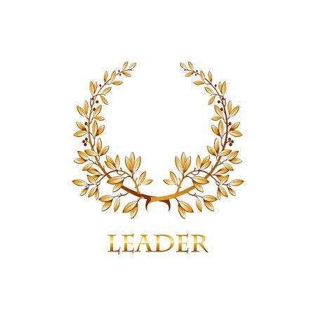 mvp: Vector gold laurel wreath. Leaves pattern. EPS 10