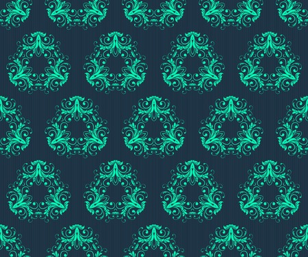 antiquated: Vector Abstract vintage seamless damask pattern Illustration