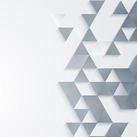 Fondo geométrico abstracto del vector con formas triangulares Ilustración de vector