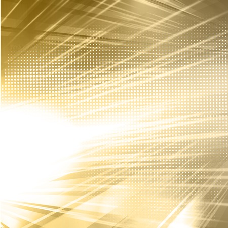 light rays: Vector Abstract gold shiny template background Illustration