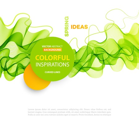 fresh colors: Vector Abstract smoky waves  background. Template brochure design Illustration