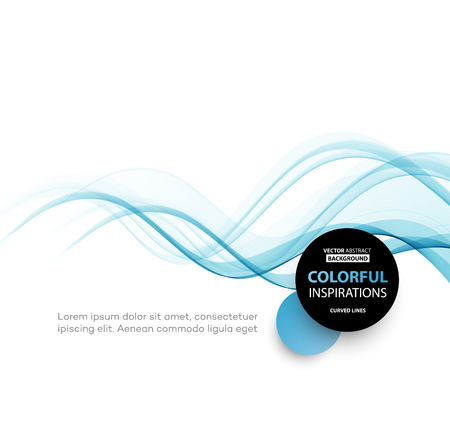 vector design: Vector Abstract blue smoke  curved lines background. Brochure design