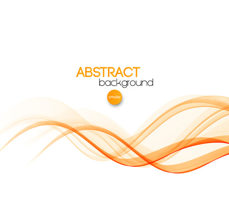 curved lines: Vector Abstract orange curved smoky lines background. Brochure design