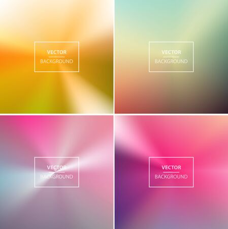website backgrounds: Abstract colorful radial blurred vector backgrounds.  Wallpaper for website, presentation or poster design