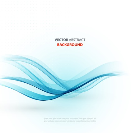 curved lines: Vector Abstract blue curved lines background. Brochure design