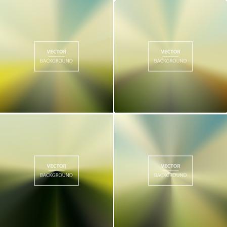 website backgrounds: Abstract colorful radial blurred vector backgrounds.  Wallpaper for website, presentation or poster design