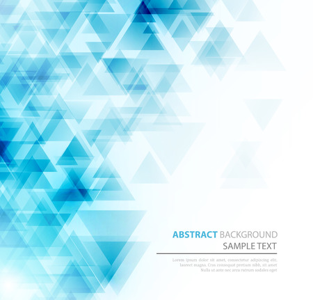 Abstract geometric background with transparent triangles. Vector illustration. Brochure design