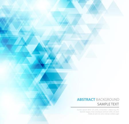 tri�ngulo: Fondo geom�trico abstracto con tri�ngulos transparentes. Ilustraci�n del vector. Dise�o de brochures Vectores