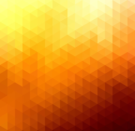 orange color: Abstract geometric background with orange and yellow triangles. Vector illustration. Summer sunny design
