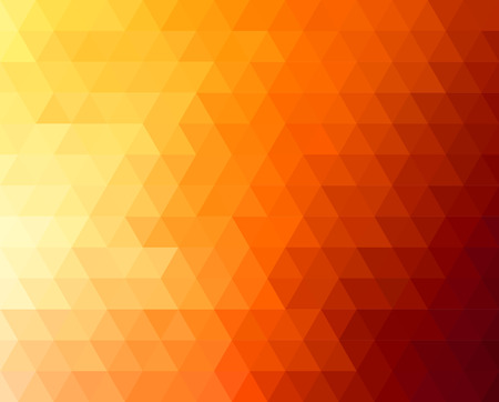 Abstract geometric background with orange and yellow triangles. Vector illustration. Summer sunny design