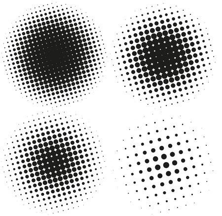 backdrop design: Set of Abstract Halftone Design Elements. Vector illustration Illustration