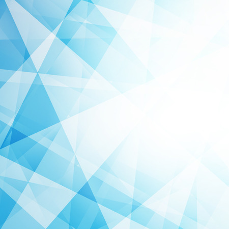 Abstract light blue geometric background. Vector illustration