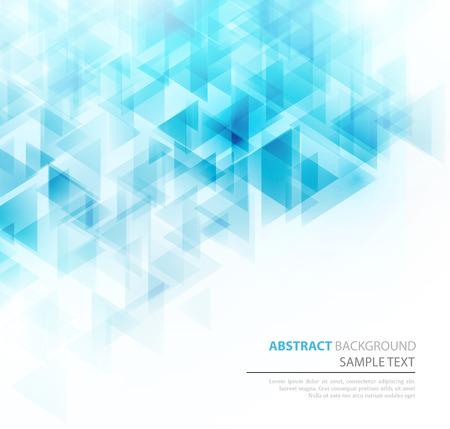 Blue shiny triangle shapes technical background.  Illustration