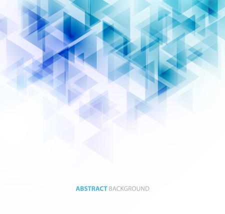 Blue shiny triangle shapes technical background.  Vettoriali