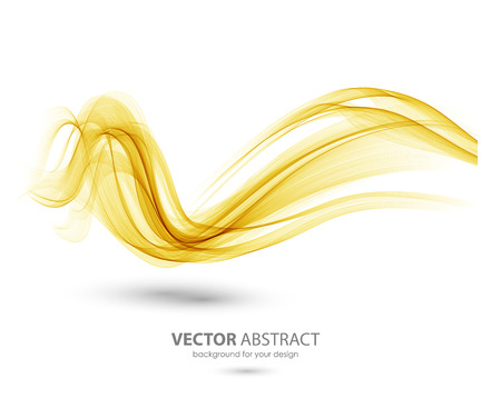 curved lines: Abstract template background with orange curved wave. Wavy lines Illustration