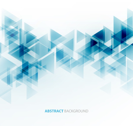future: Abstract geometric background with transparent triangles. Vector illustration. Brochure design
