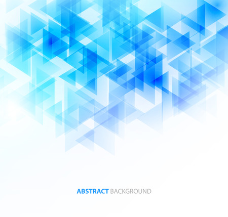 blue white: Abstract geometric background with transparent triangles. Vector illustration. Brochure design