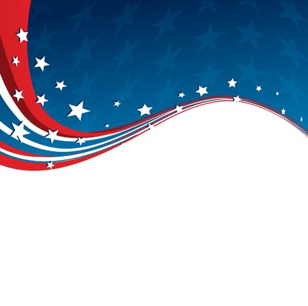 state election: American Flag, Vector patriotic background for Independence Day, Memorial Day