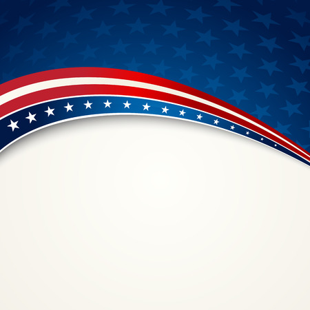vote: American Flag, Vector patriotic background for Independence Day, Memorial Day