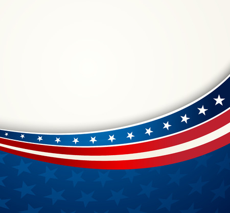 stars and stripes background: American Flag, Vector patriotic background for Independence Day, Memorial Day