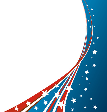 American Flag, Vector patriotic background for Independence Day, Memorial Day Imagens - 40281403