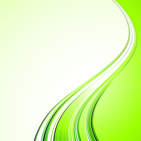 curved lines: Vector Abstract color curved lines background. Template brochure design
