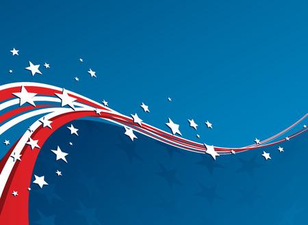 bandera estados unidos: Bandera americana, Vector fondo patriótico para el Día de la Independencia, Día de los Caídos