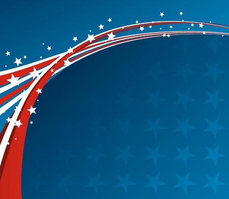 independencia: Bandera americana, Vector fondo patriótico para el Día de la Independencia, Día de los Caídos