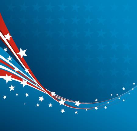 Drapeau américain, Vector patriotique fond pour Independence Day, Memorial Day Banque d'images - 40353990