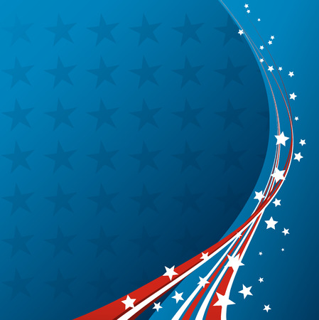 campaigns: American Flag, Vector patriotic background for Independence Day, Memorial Day