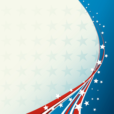 4th: American Flag, Vector patriotic background for Independence Day, Memorial Day