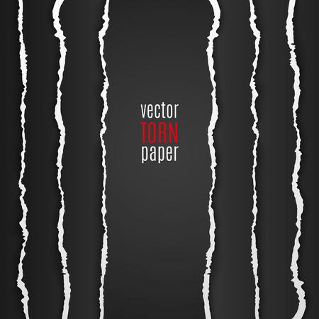ベクトル図の黒い引き裂かれた紙。テンプレートの背景