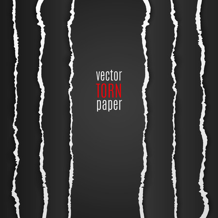 white textured paper: Vector illustration black torn paper. Template background