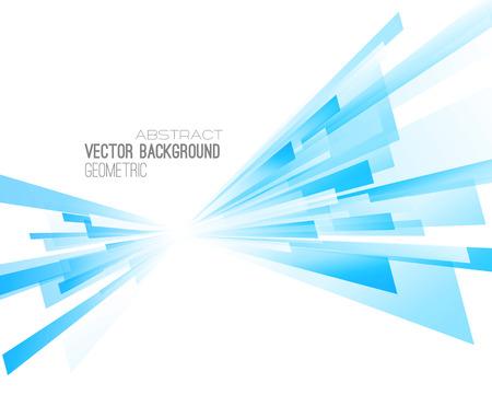 Fondo geométrico abstracto con líneas de color. Ilustración del vector. Diseño de brochures