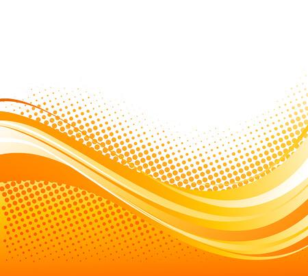 naranja: De color anaranjado abstracto curv� l�neas de fondo con medias tintas. Vectores