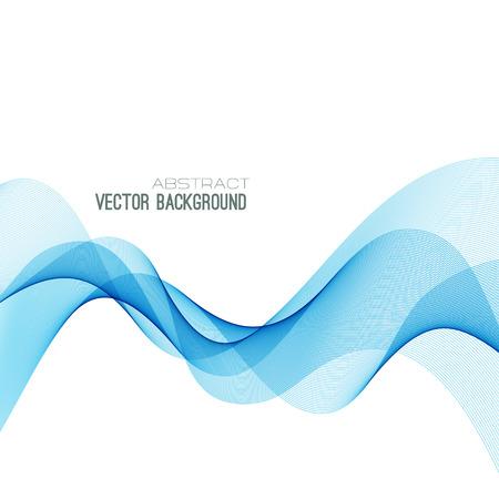 抽象的な青い曲線の背景。