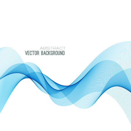 Abstract blue curved lines background.