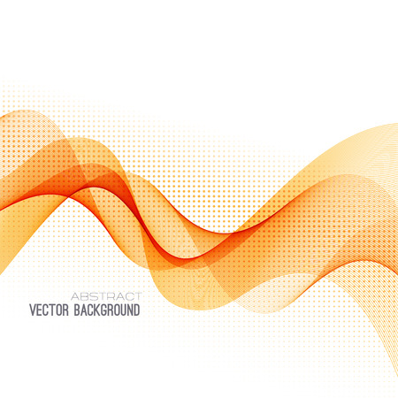 orange abstract: Abstract orange curved lines background.