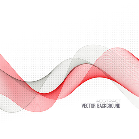 Abstract curved lines background.  Vector
