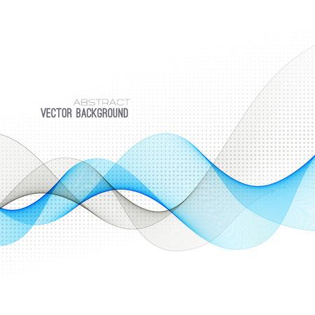kurve: Abstrakte blaue geschwungene Linien Hintergrund.
