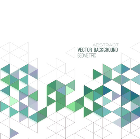 graphic background: Abstract geometric background with color triangles.