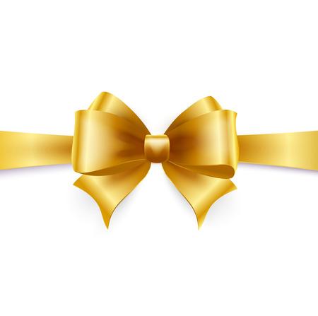 Gouden boog geïsoleerd op wit. Vector illustratie Vector Illustratie